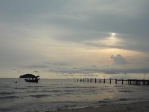 coucher de soleil au cambodge avec Globalong