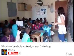 globalong bénévolat Sénégal enfant chant