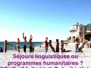 quelle formule choisir entre un séjour bhumanitaire ou un séjour linguistique, Globalong vous aiguille