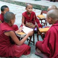 Enseigner l'anglais au moines bouddhistes népalais avec Globalong