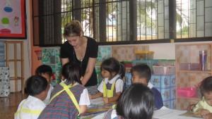 Volontaires en Asie pendant un programme de bénévolat - GlobAlong