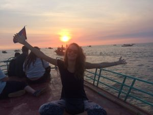 Nadège bénévole au Cambodge avec GlobAlong